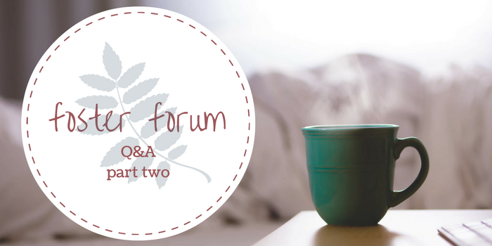 Foster Forum Q&A Part Two