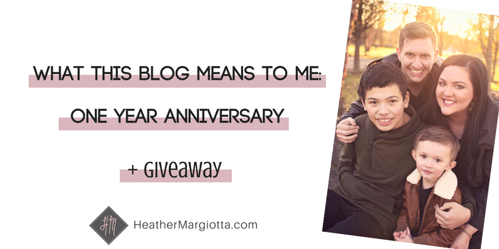 What This Blog Means To Me: ONE Year Anniversary